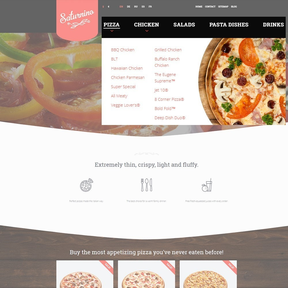 theme - Food & Restaurant - Saturnino - Pizza Restaurant - 4