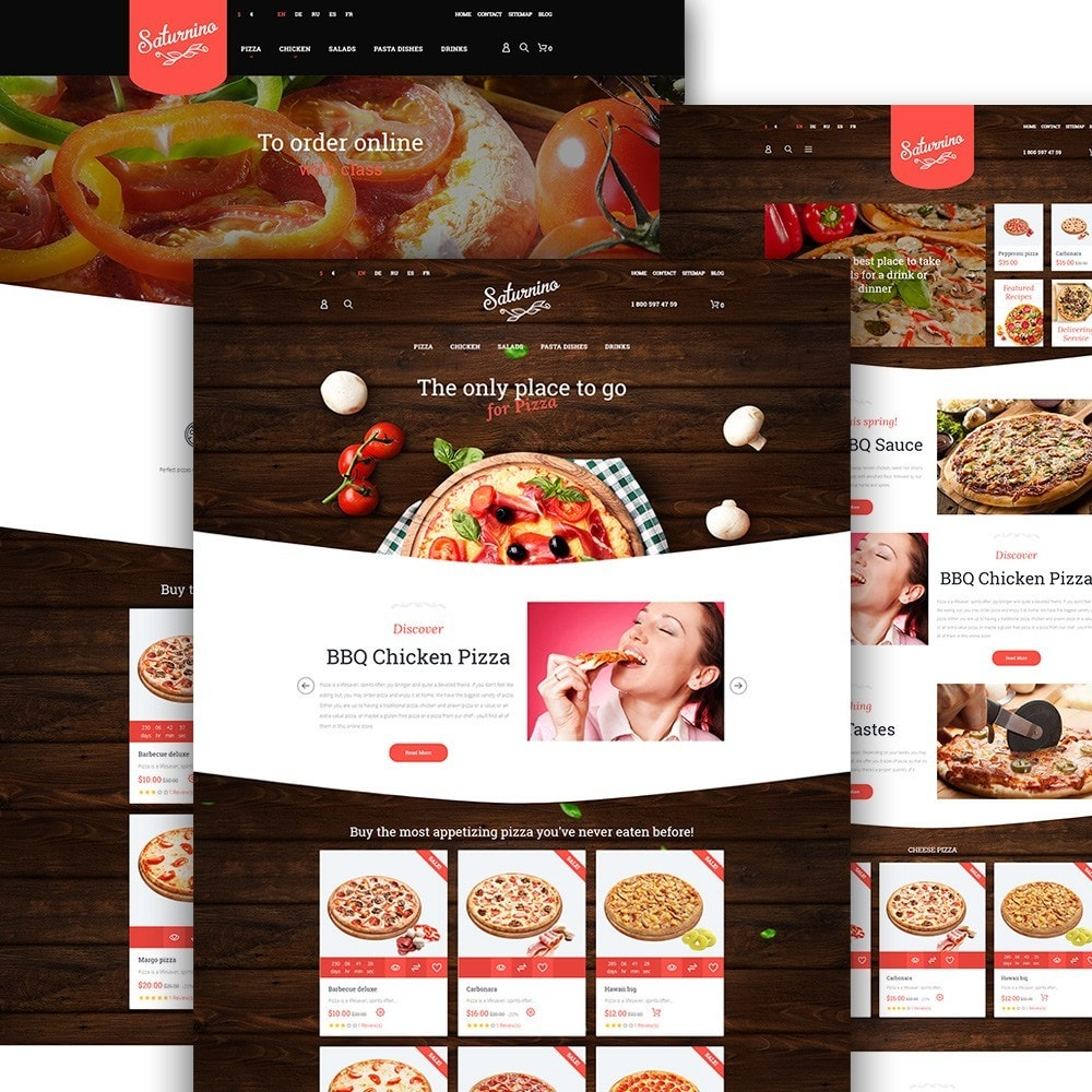 theme - Alimentation & Restauration - Saturnino - Pizzeria thème PrestaShop adaptatif - 2