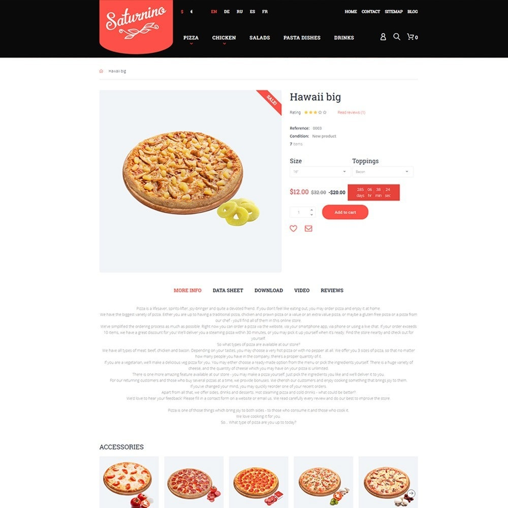 theme - Alimentation & Restauration - Saturnino - Pizzeria thème PrestaShop adaptatif - 3
