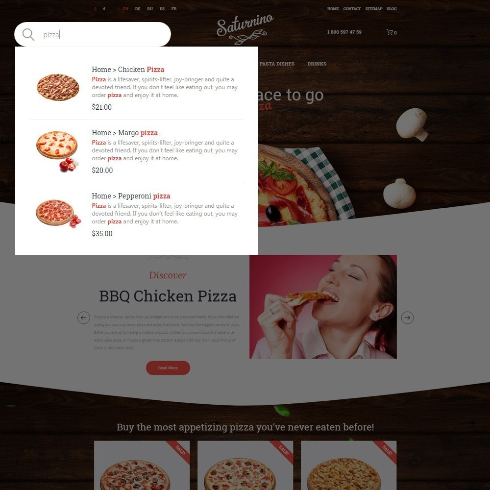 theme - Alimentation & Restauration - Saturnino - Pizzeria thème PrestaShop adaptatif - 5