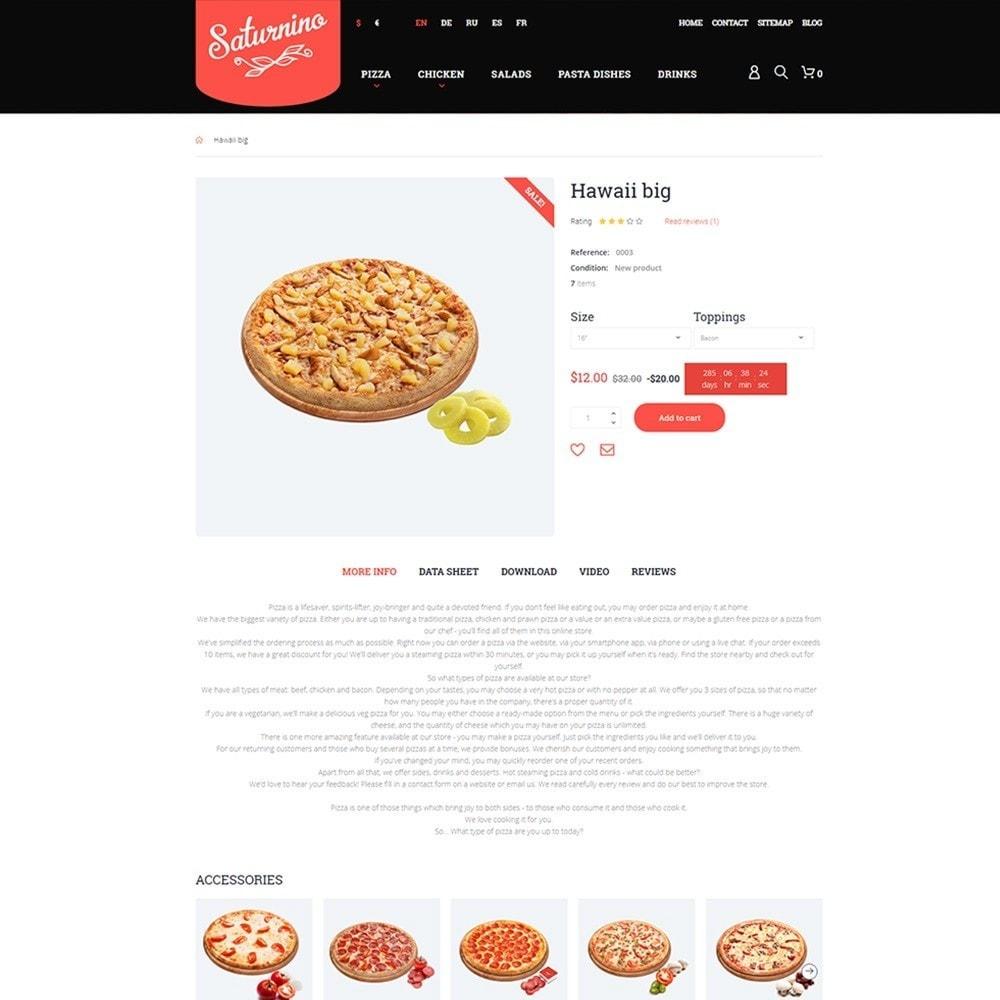 Saturnino - PrestaShop шаблон пиццерии