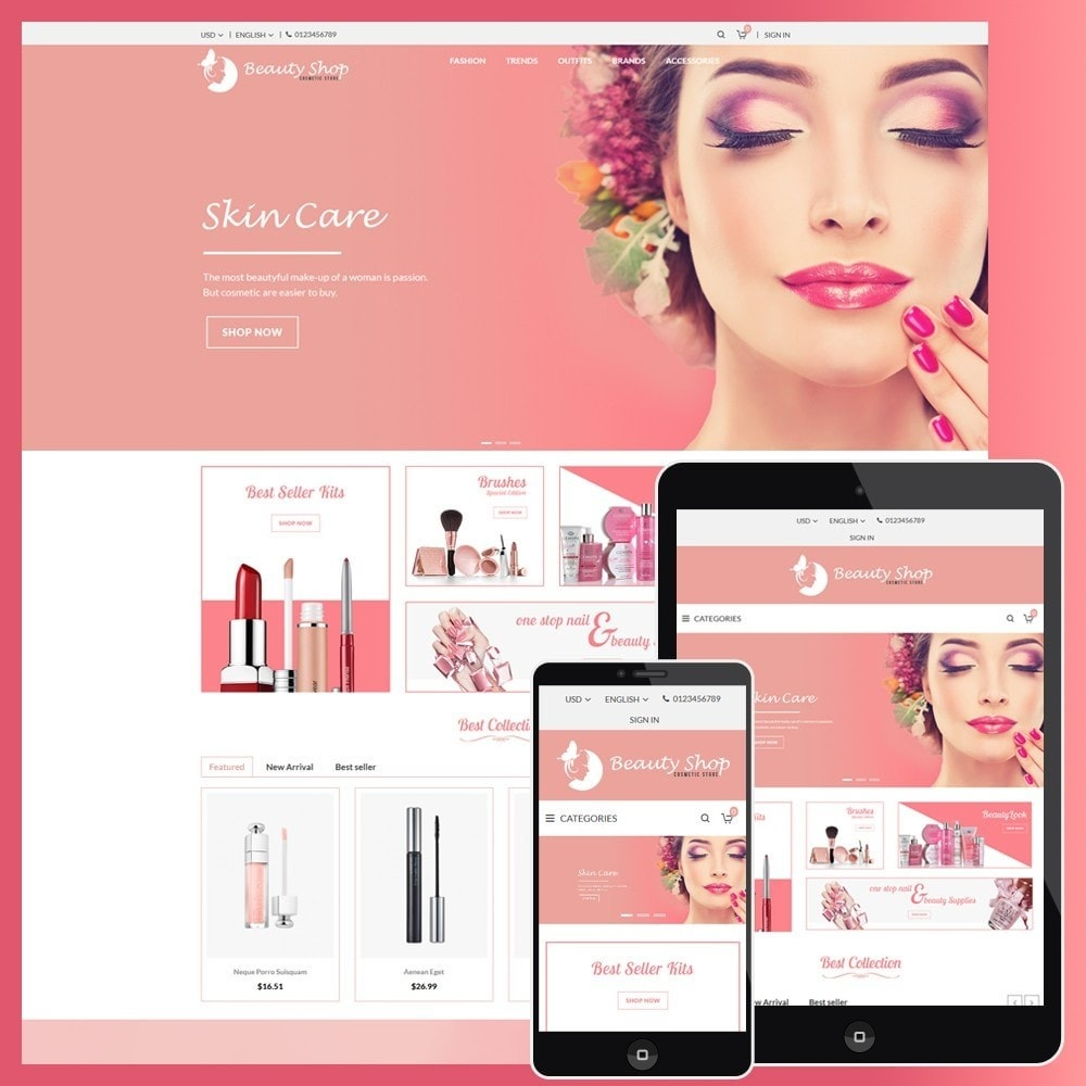 theme - Salud y Belleza - Beauty Cosmetic store - 1