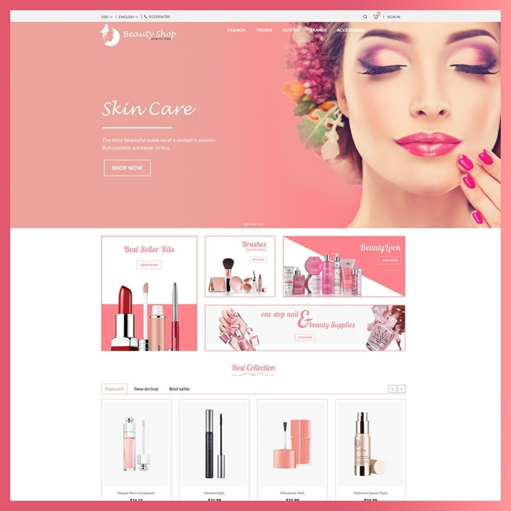 theme - Health & Beauty - Beauty Cosmetic store - 2