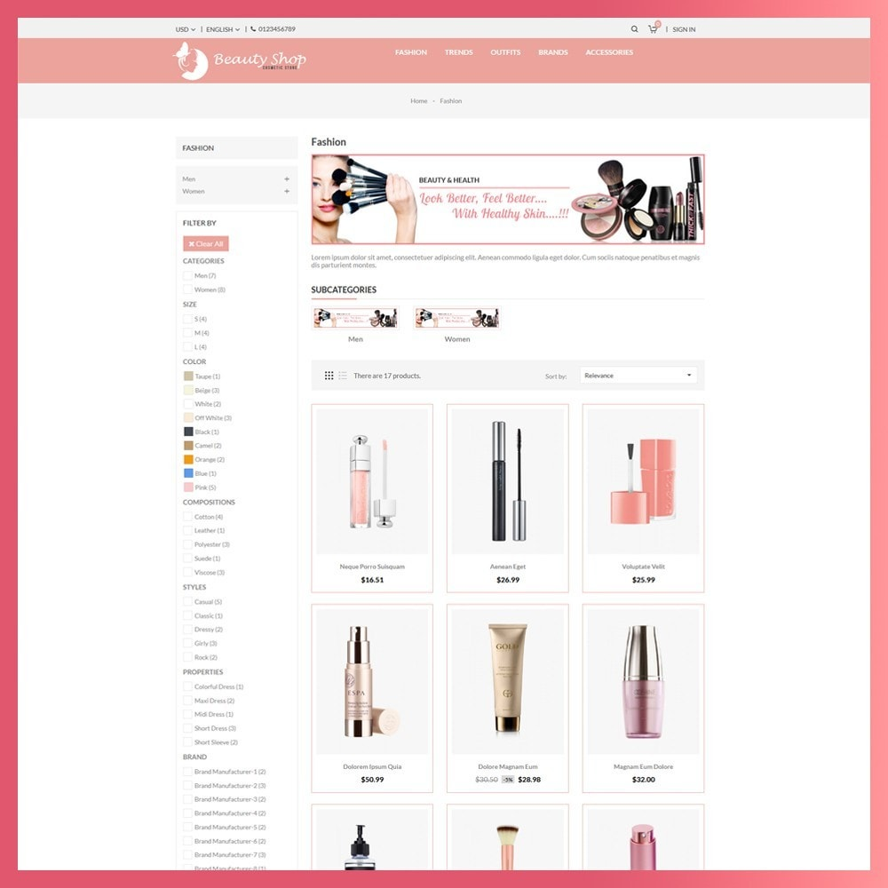 theme - Health & Beauty - Beauty Cosmetic store - 3