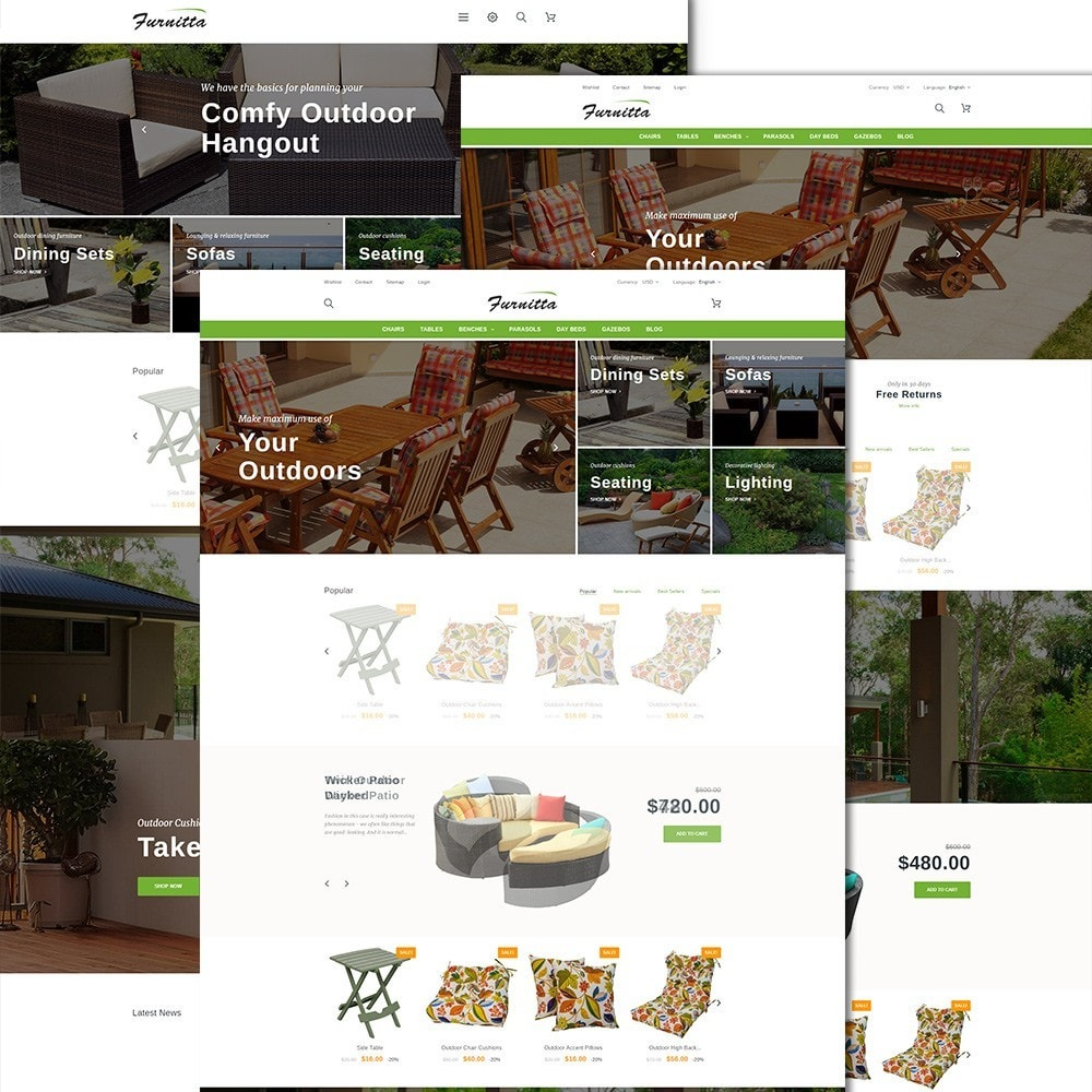 theme - Дом и сад - Furnitta - магазин садовой мебели - 2