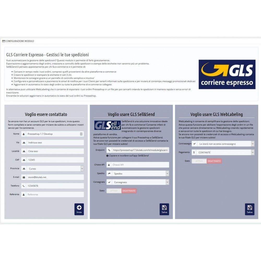 module - Corrieri - GLS Corriere Espresso - Gestisci le tue spedizioni - 1