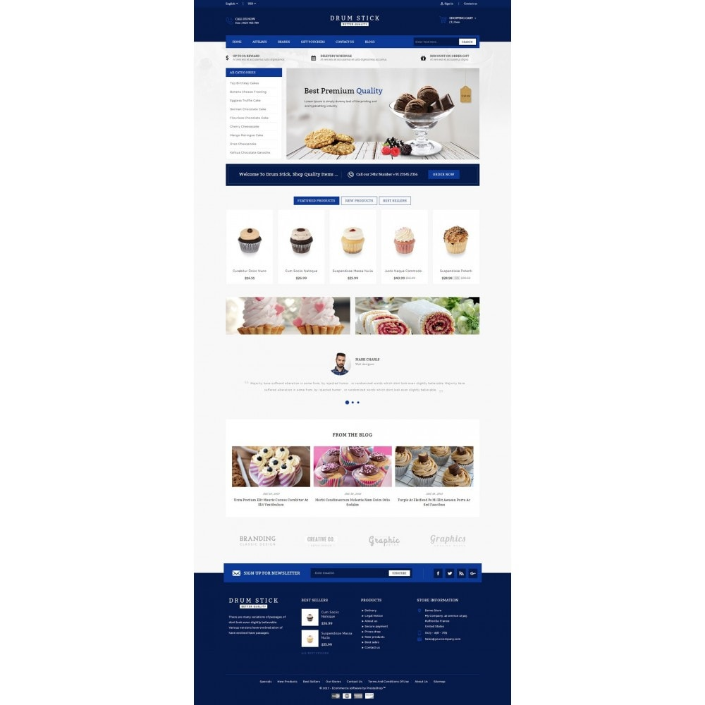 theme - Food & Restaurant - Drum Stick - Bakery Store - 2