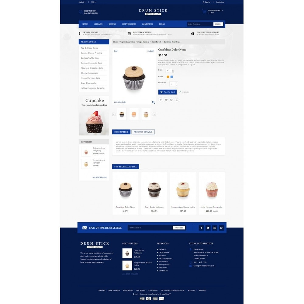 theme - Alimentation & Restauration - Drum Stick - Bakery Store - 5