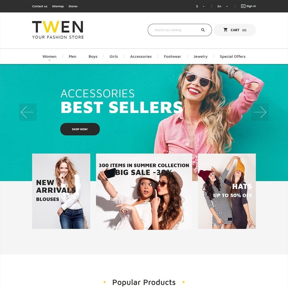 theme - Mode & Schuhe - Twen - Fashion Store Responsive - 2