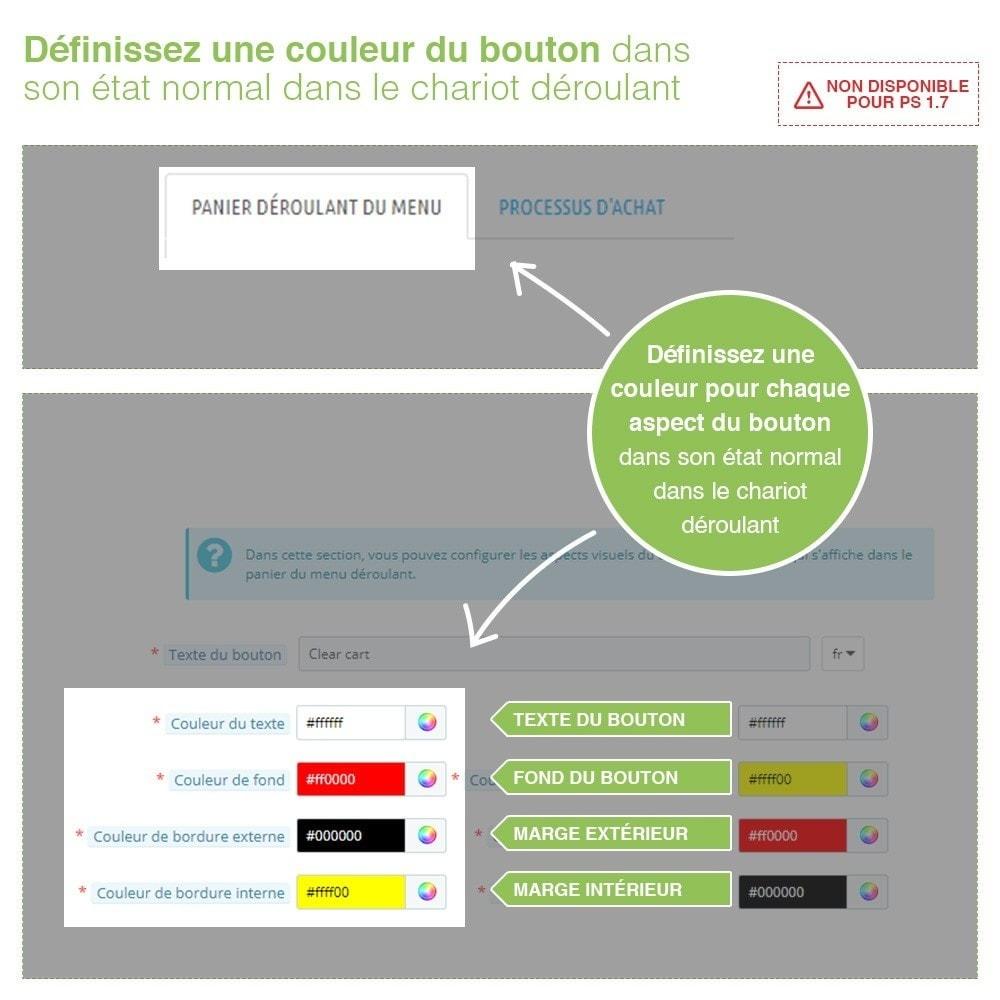 module - Inscription & Processus de commande - Bouton Vider Panier – Supprimer produits du panier - 3