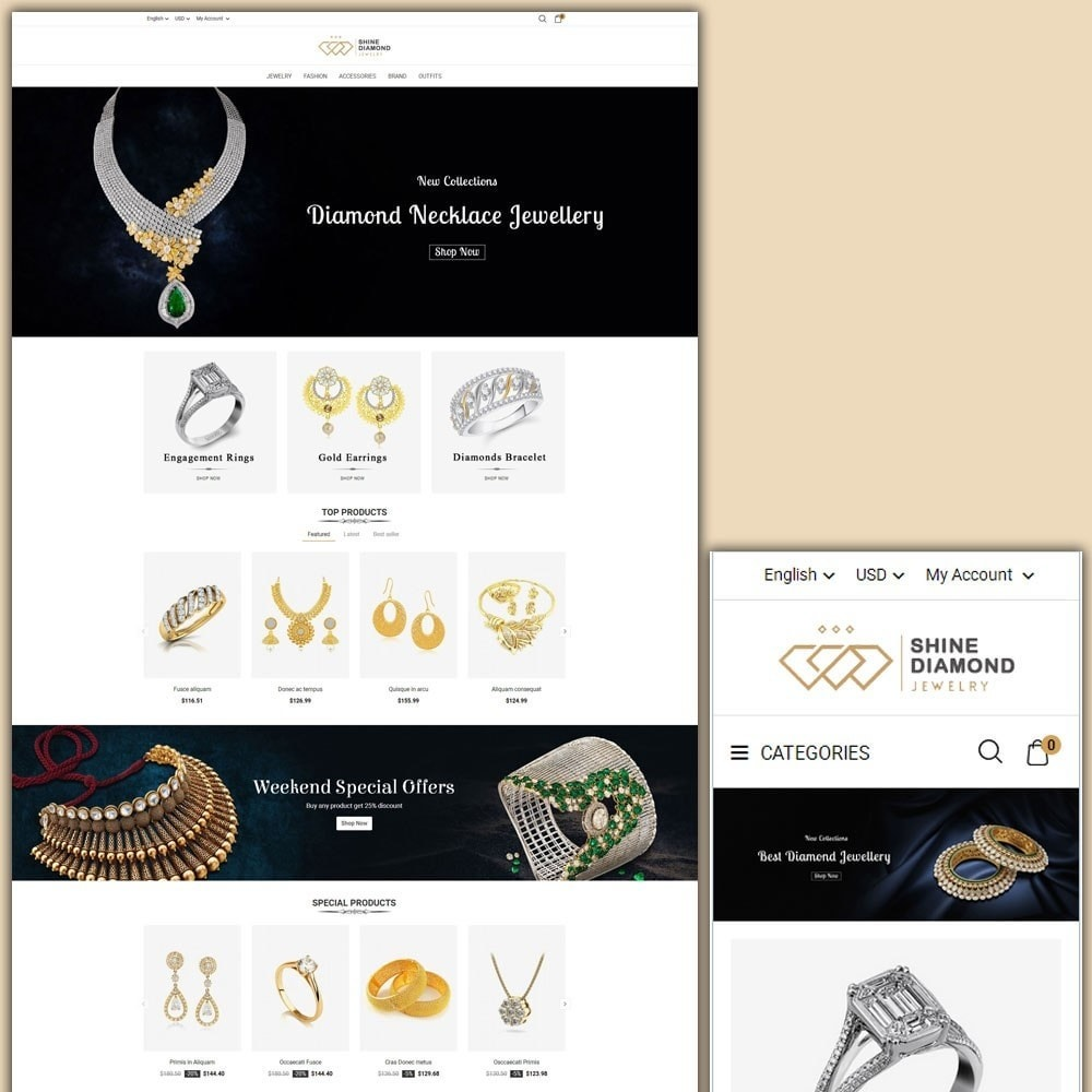 theme - Schmuck & Accesoires - Shine Diamond Jewelry Store - 1