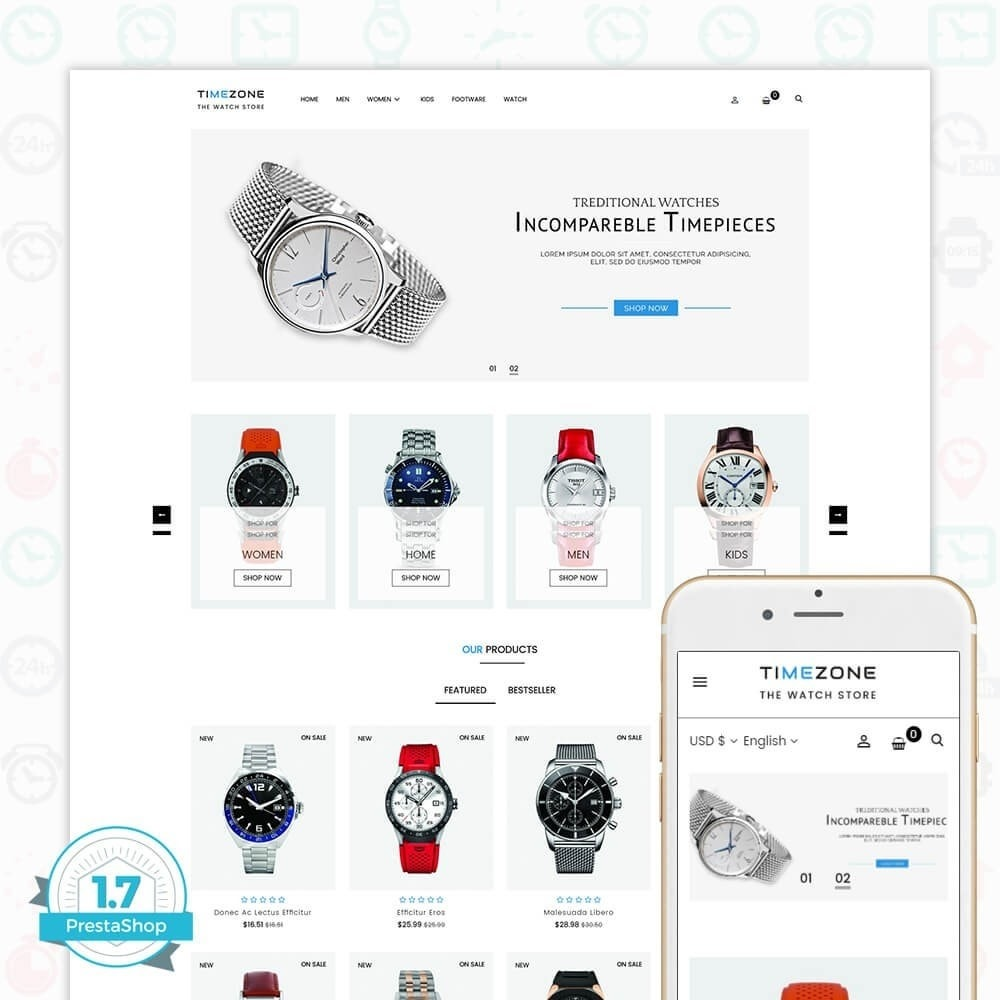 theme - Sieraden & Accessoires - Timezone - The Watch Store - 1