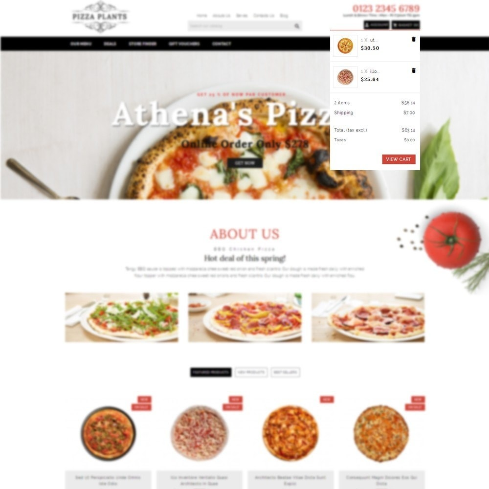 theme - Продовольствие и рестораны - Pizza Plants Store - 6
