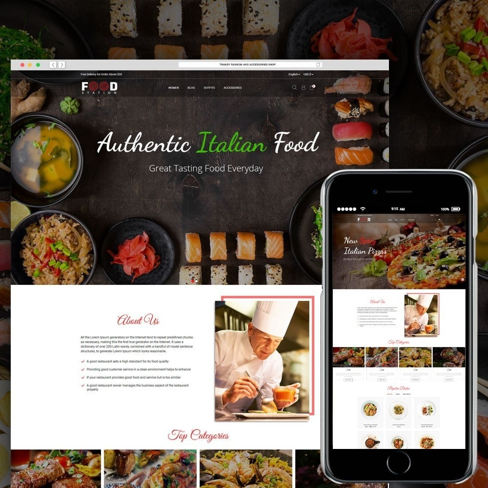 theme - Alimentos & Restaurantes - Food Station - 1
