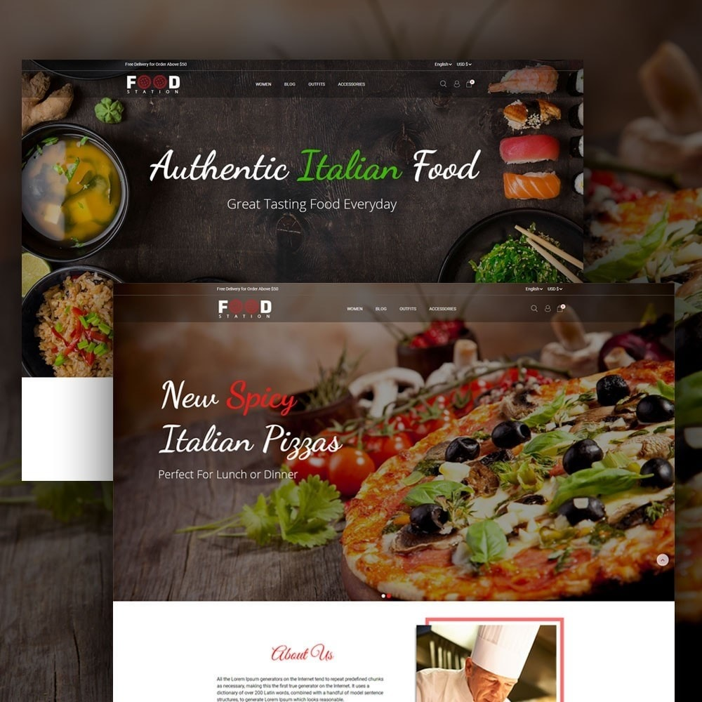 theme - Alimentos & Restaurantes - Food Station - 2