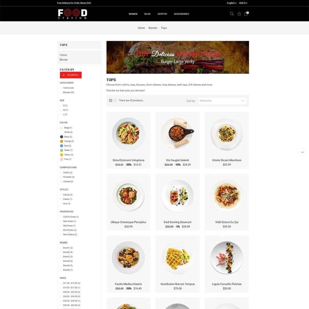 theme - Alimentos & Restaurantes - Food Station - 4
