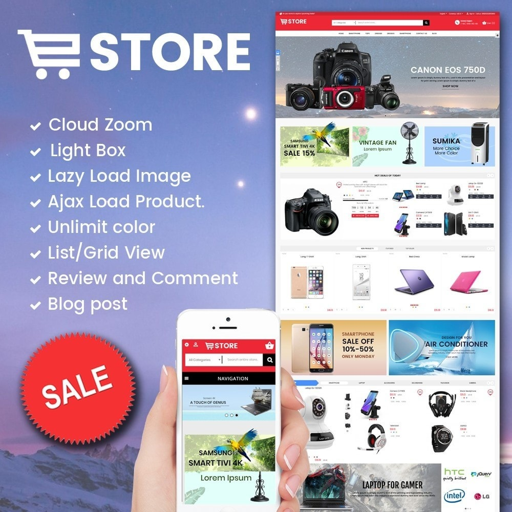 theme - Elektronica & High Tech - Electronic And Computer Estore - 1