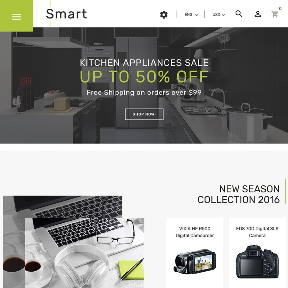theme - Electronics & Computers - Smart - Gadgets & Electronics PrestaShop 1.7 Theme - 2