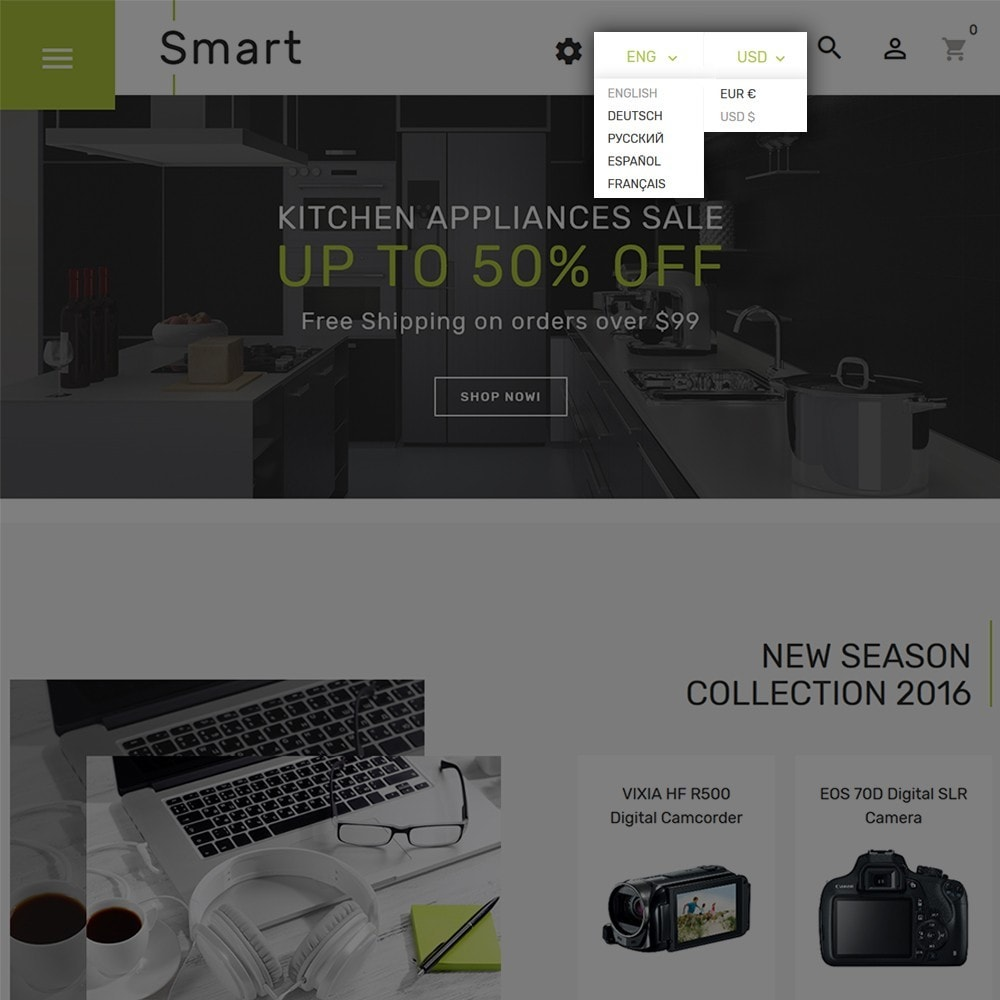 theme - Electronics & Computers - Smart - Gadgets & Electronics PrestaShop 1.7 Theme - 4