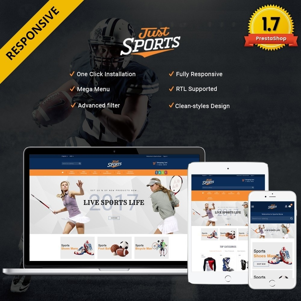 theme - Sports, Activities & Travel - Just Sports Store - 1