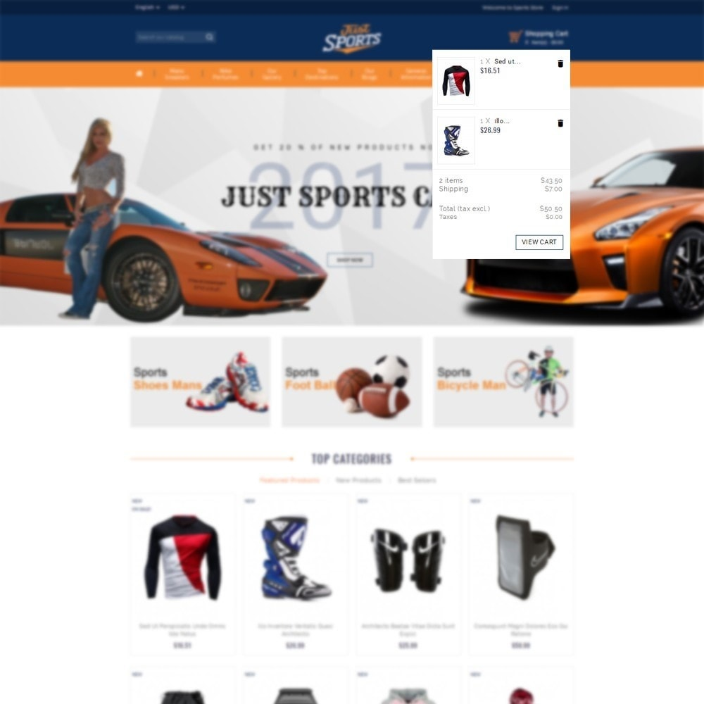 theme - Sports, Activities & Travel - Just Sports Store - 7