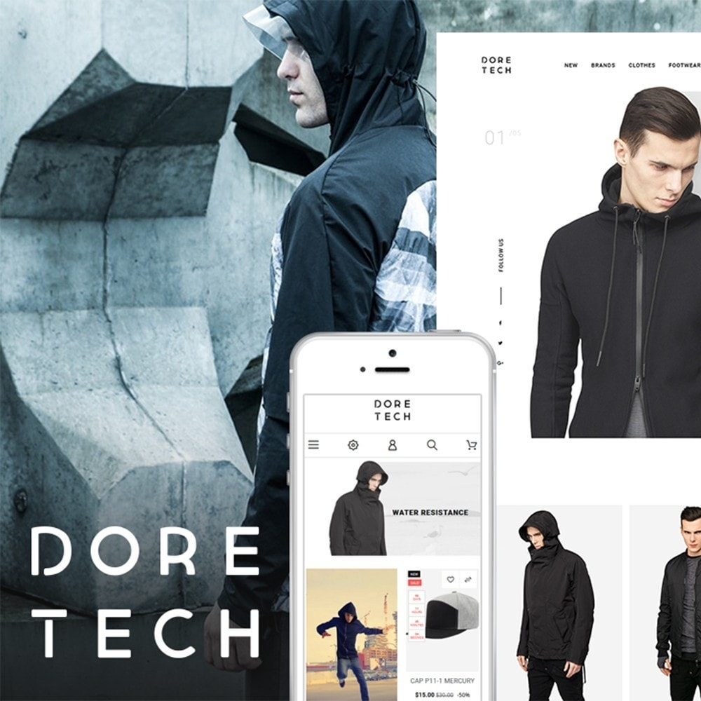 theme - Fashion & Shoes - Dore Tech - 1