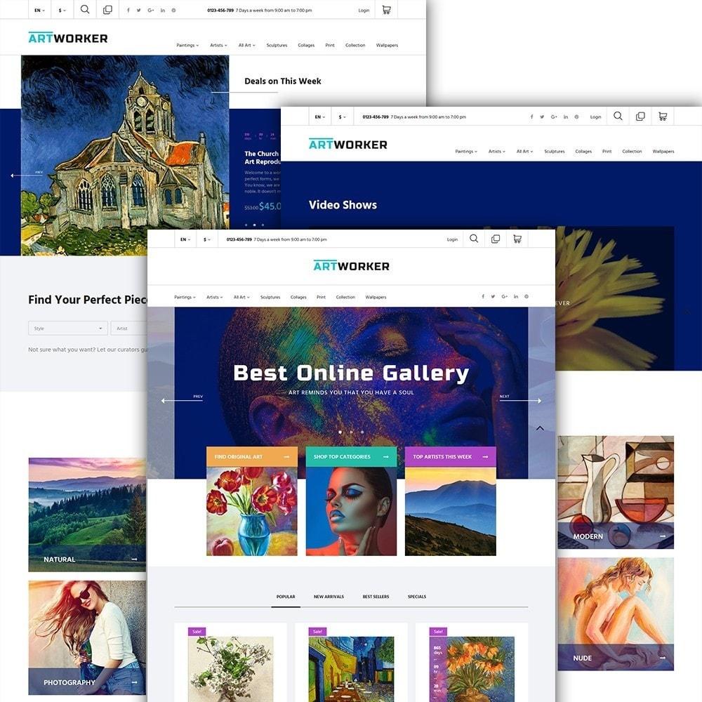 theme - Art & Culture - Artworker - Online Gallery & Artist Portfolio - 2