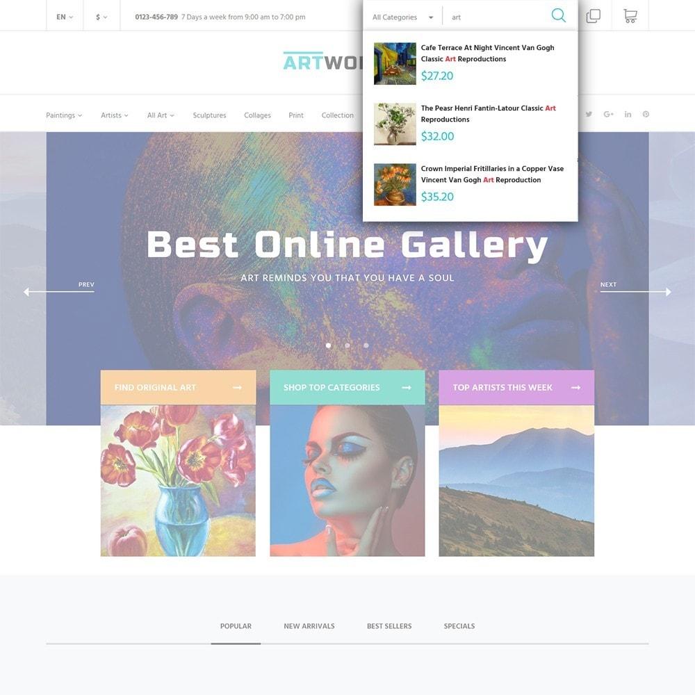 theme - Art & Culture - Artworker - Galerie et portfolio d'artiste en ligne - 6