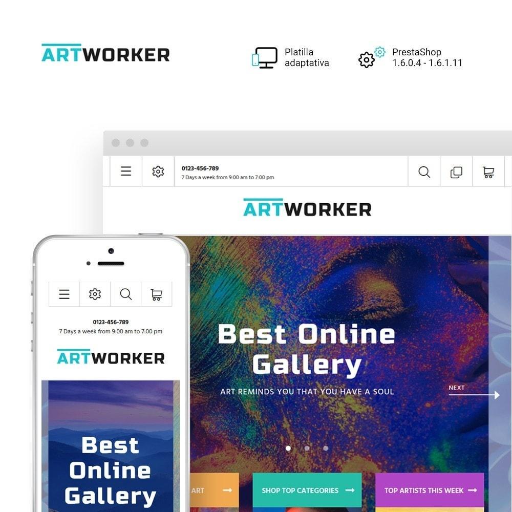 theme - Arte y Cultura - Artworker -  Sitio de Galerías de arte - 1