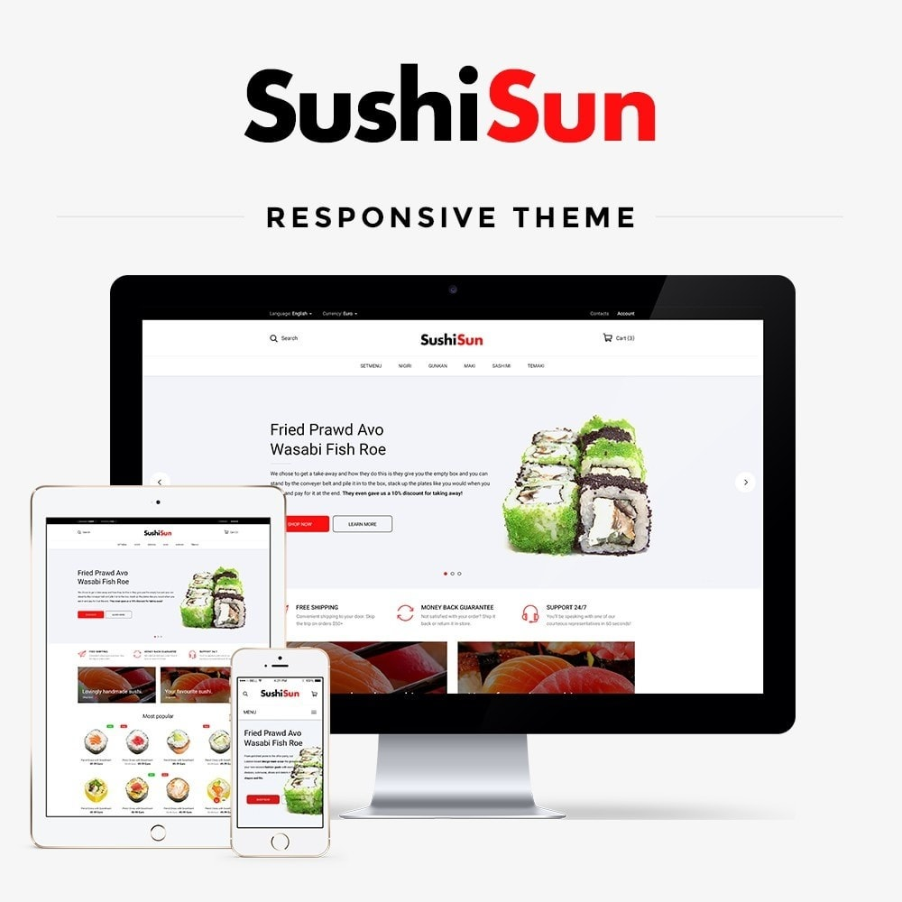 theme - Food & Restaurant - SushiSun - 1