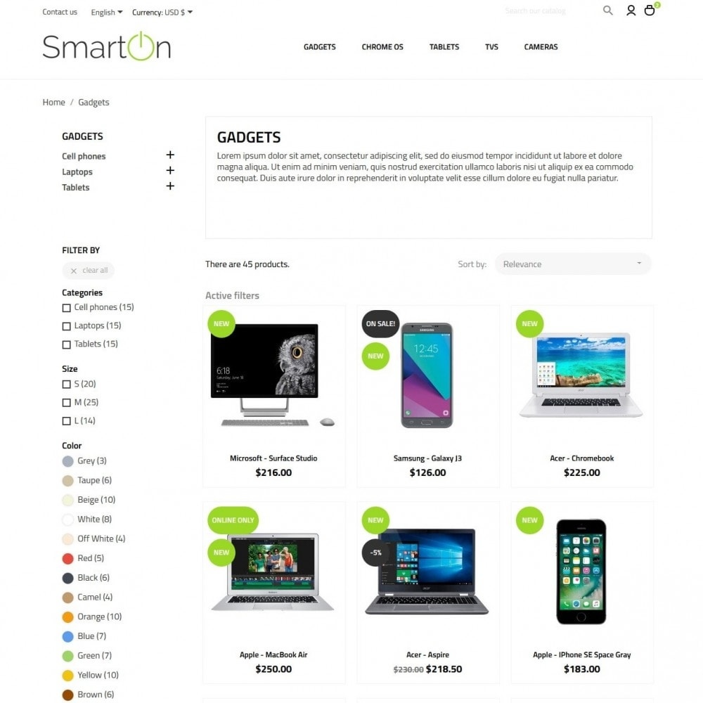 theme - Электроника и компьютеры - SmartOn - High-tech Shop - 5