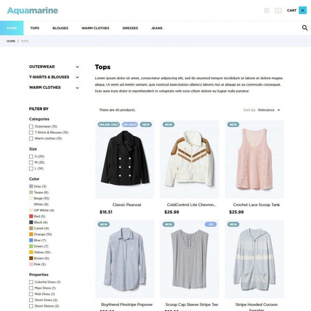 theme - Moda y Calzado - Aquamarine Fashion Store - 5