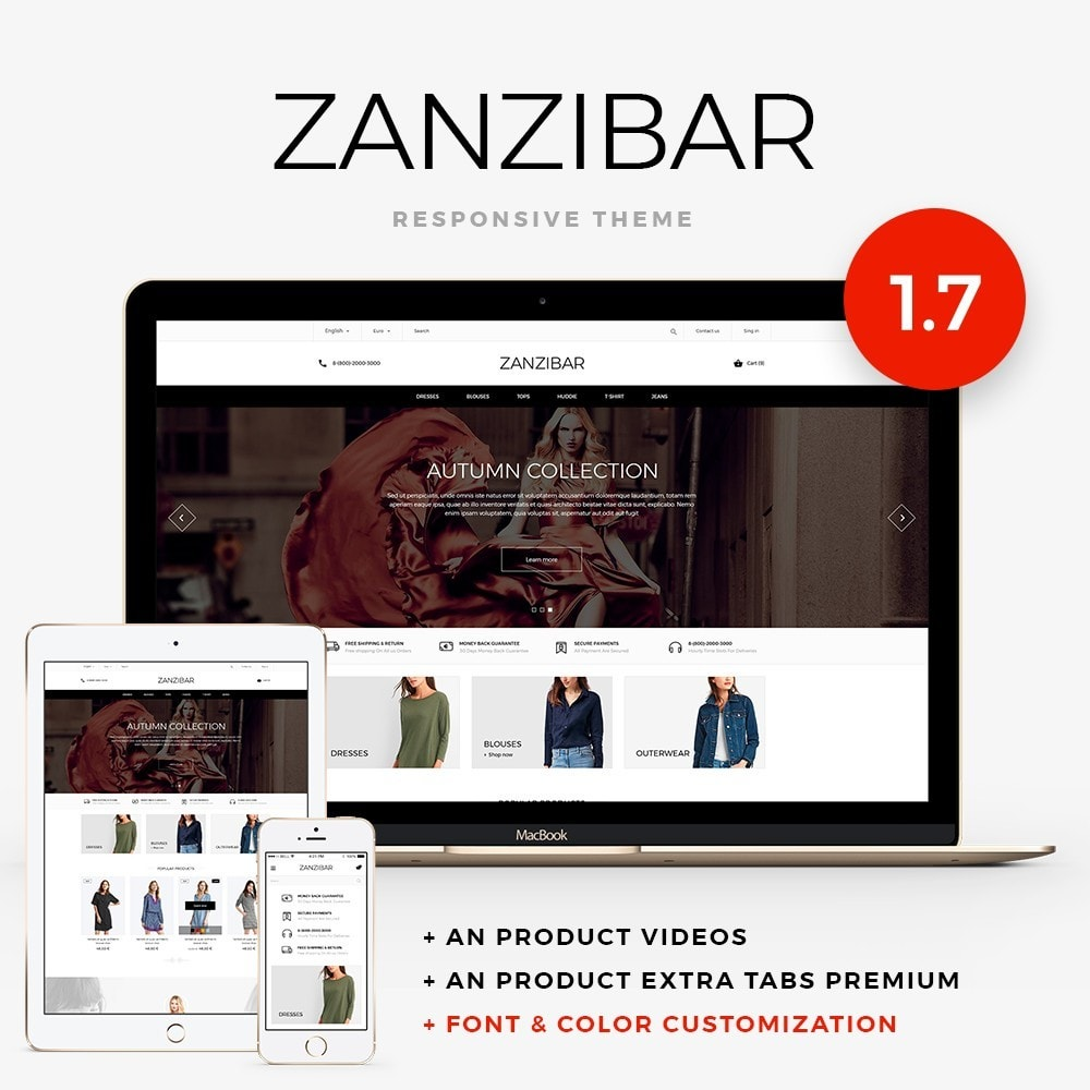 theme - Мода и обувь - Zanzibar Fashion Store - 1