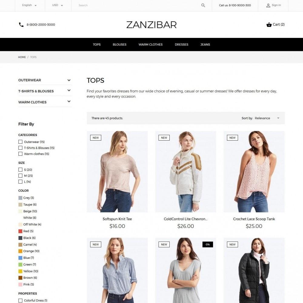 theme - Мода и обувь - Zanzibar Fashion Store - 5