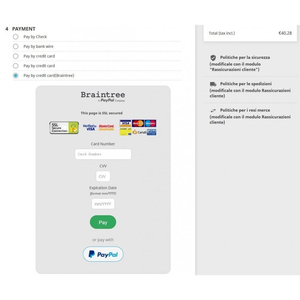 module - Pago con Tarjeta o Carteras digitales - Braintree PayPal Company payment - 3