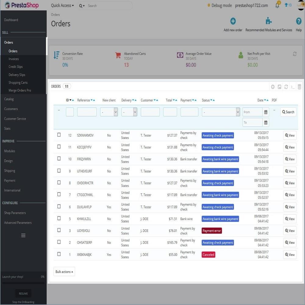 module - Iscrizione e Processo di ordinazione - Merge Orders Pro - 3