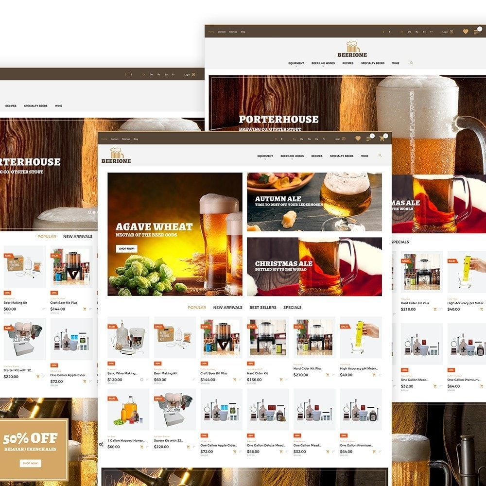 theme - Temas PrestaShop - Beerione - Brewing Equipment Store PrestaShop Theme - 2