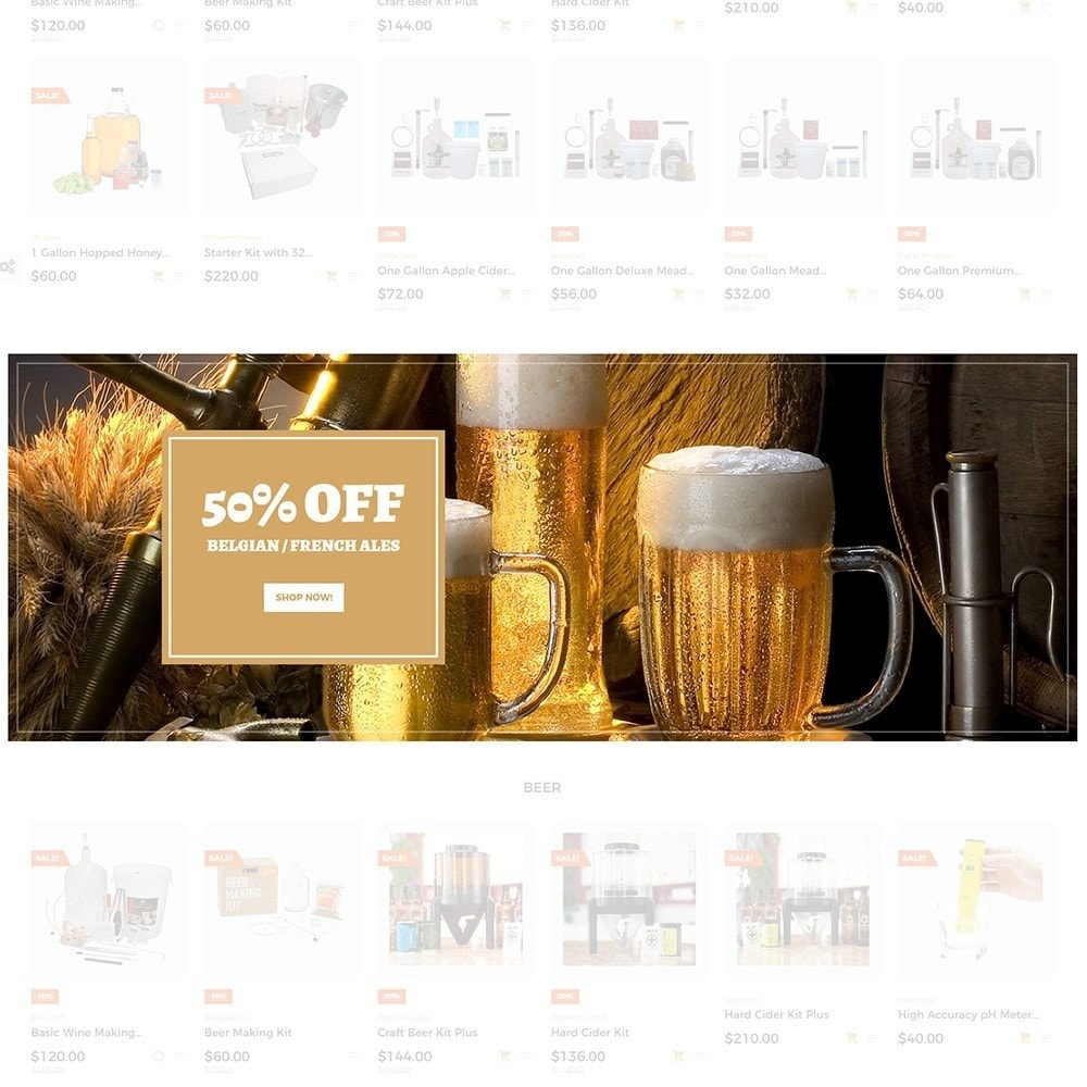 theme - PrestaShop Templates - Beerione - Brewing Equipment Store PrestaShop Theme - 3