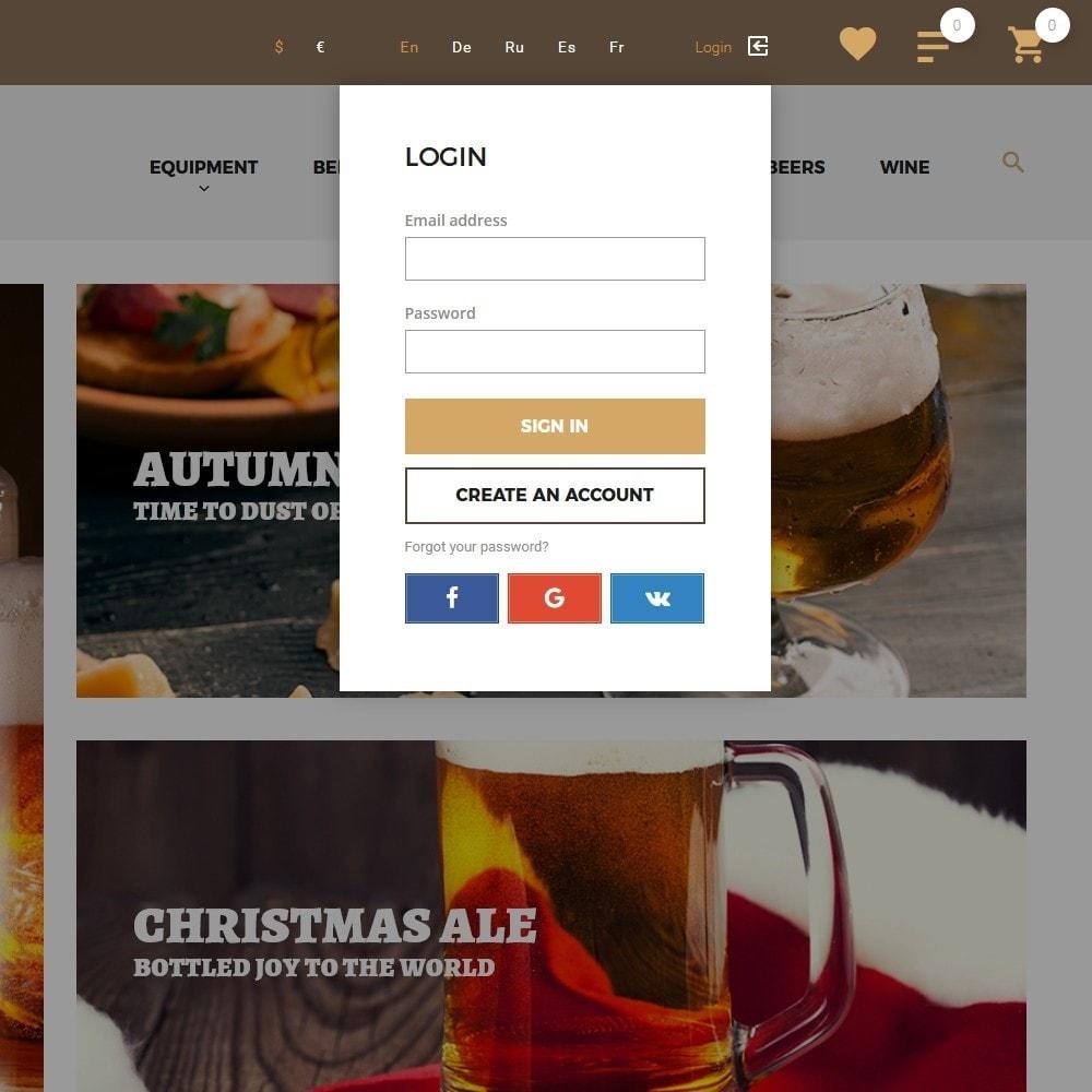 theme - Напитки и с сигареты - Beerione - Шаблон на тему алкоголь - 7