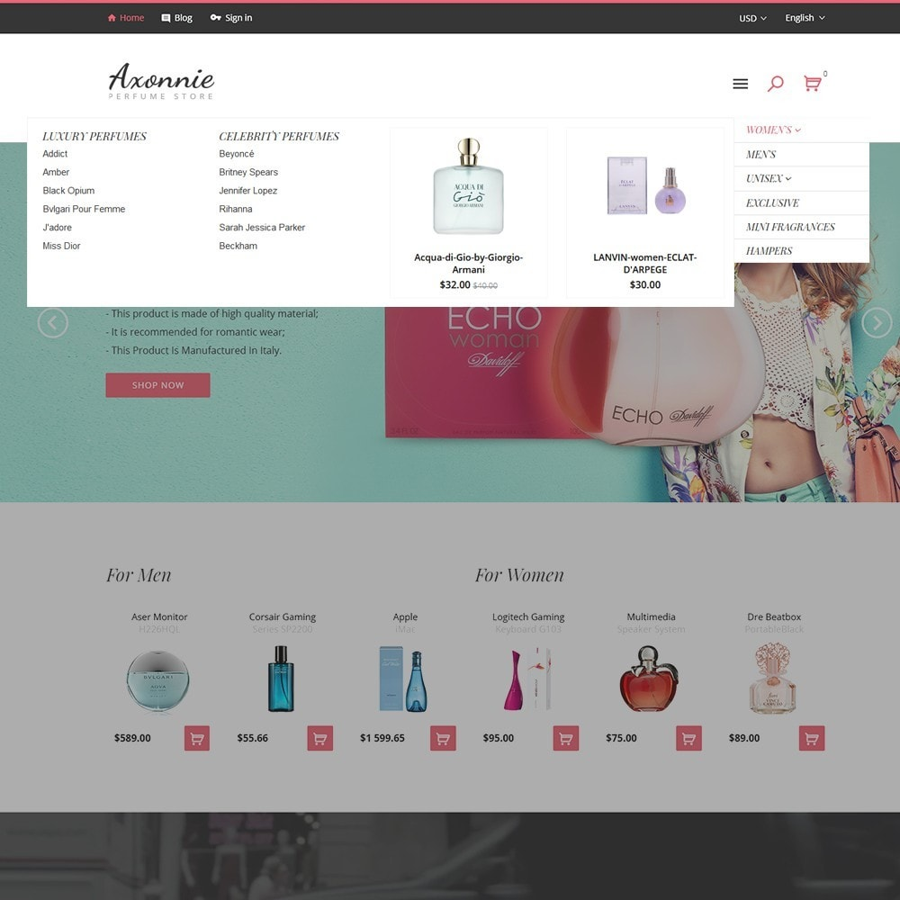theme - Mode & Schuhe - Axonnie - Perfume Store PrestaShop Theme - 3