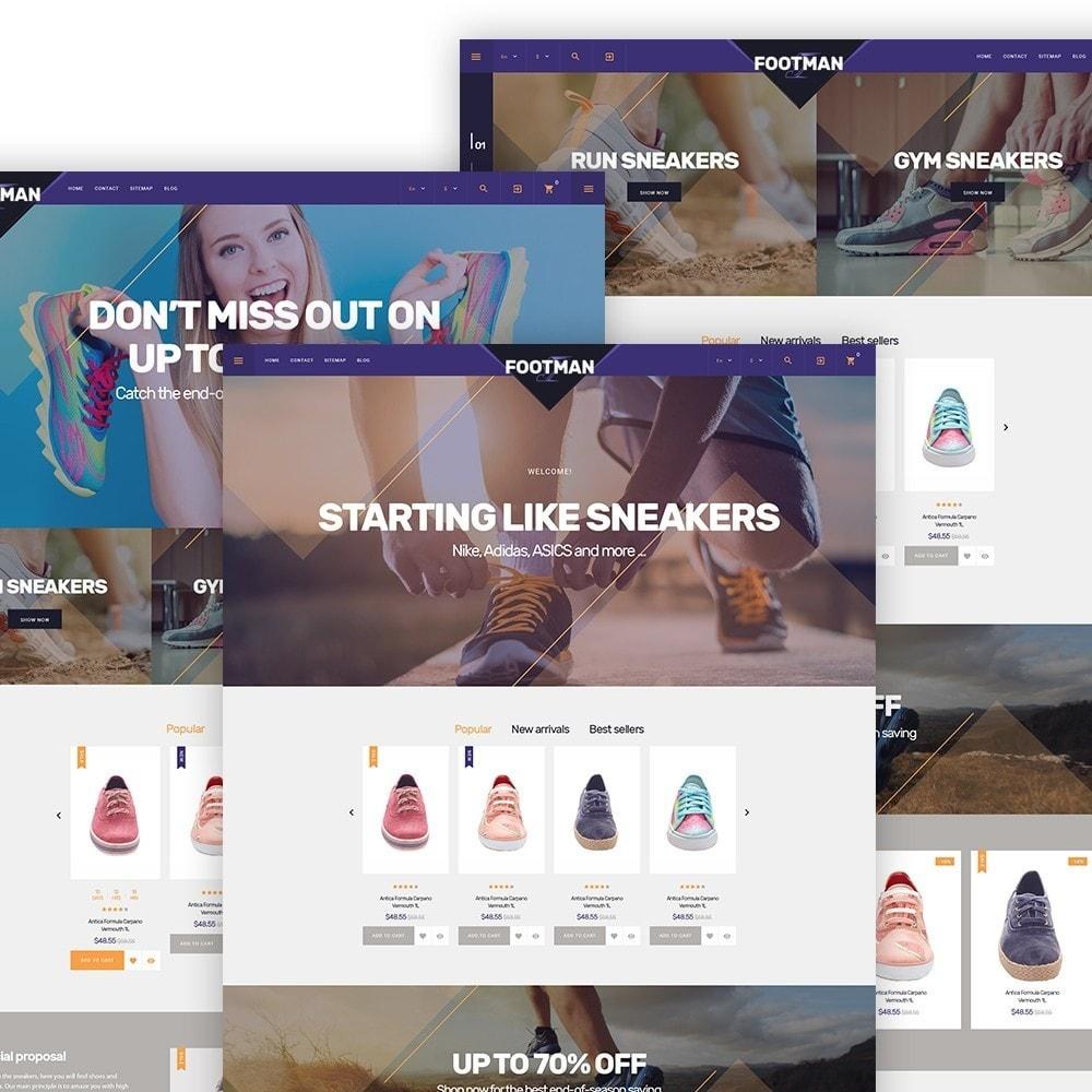 Footmen - Адаптивный PrestaShop шаблон магазина обуви