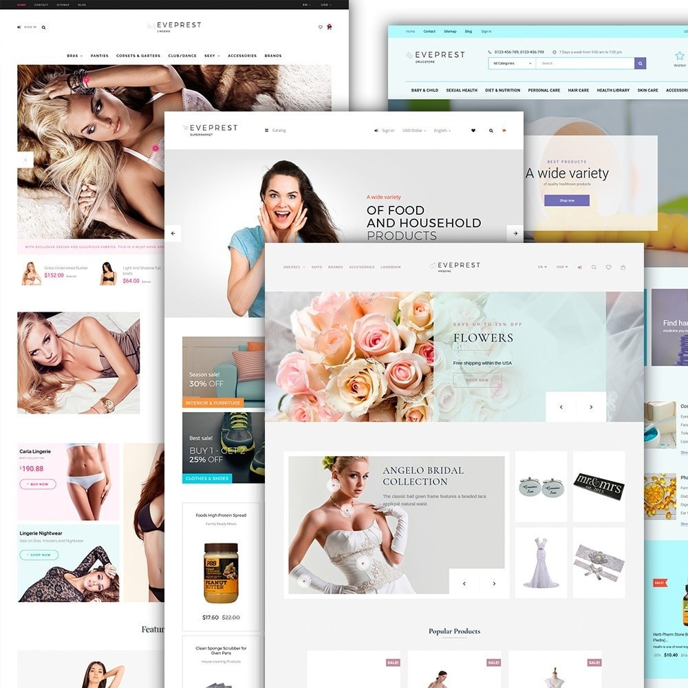 theme - Fashion & Shoes - Eveprest - Multipurpose PrestaShop Theme - 4