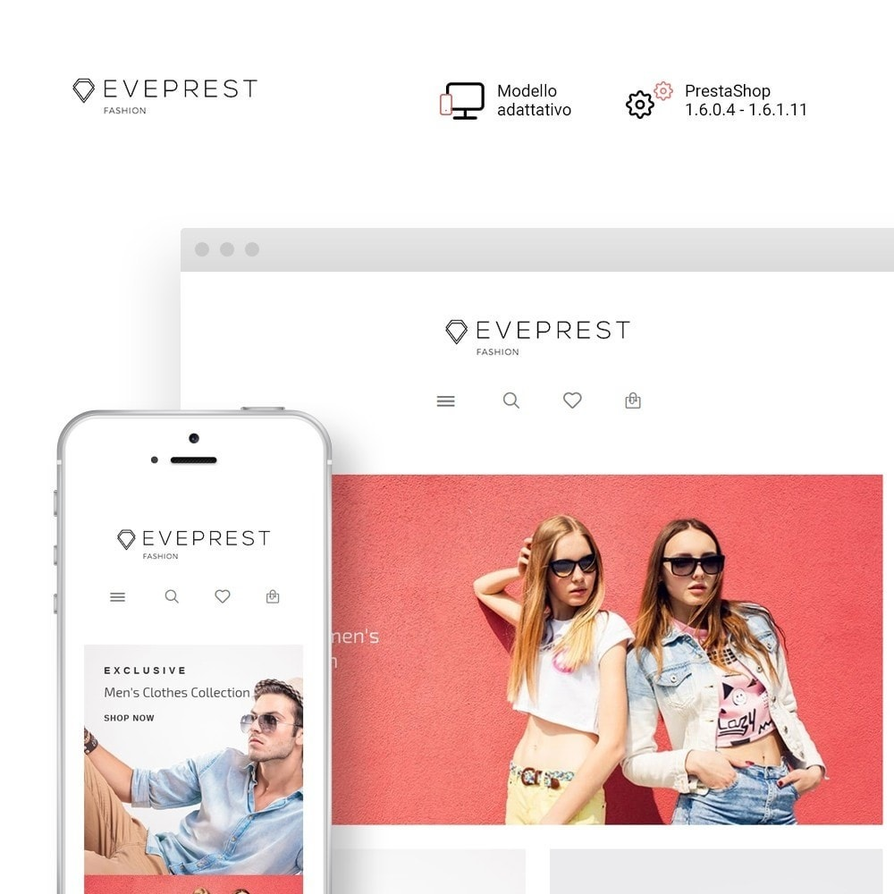 theme - Moda & Calzature - Eveprest - Tema multipurpose PrestaShop - 2