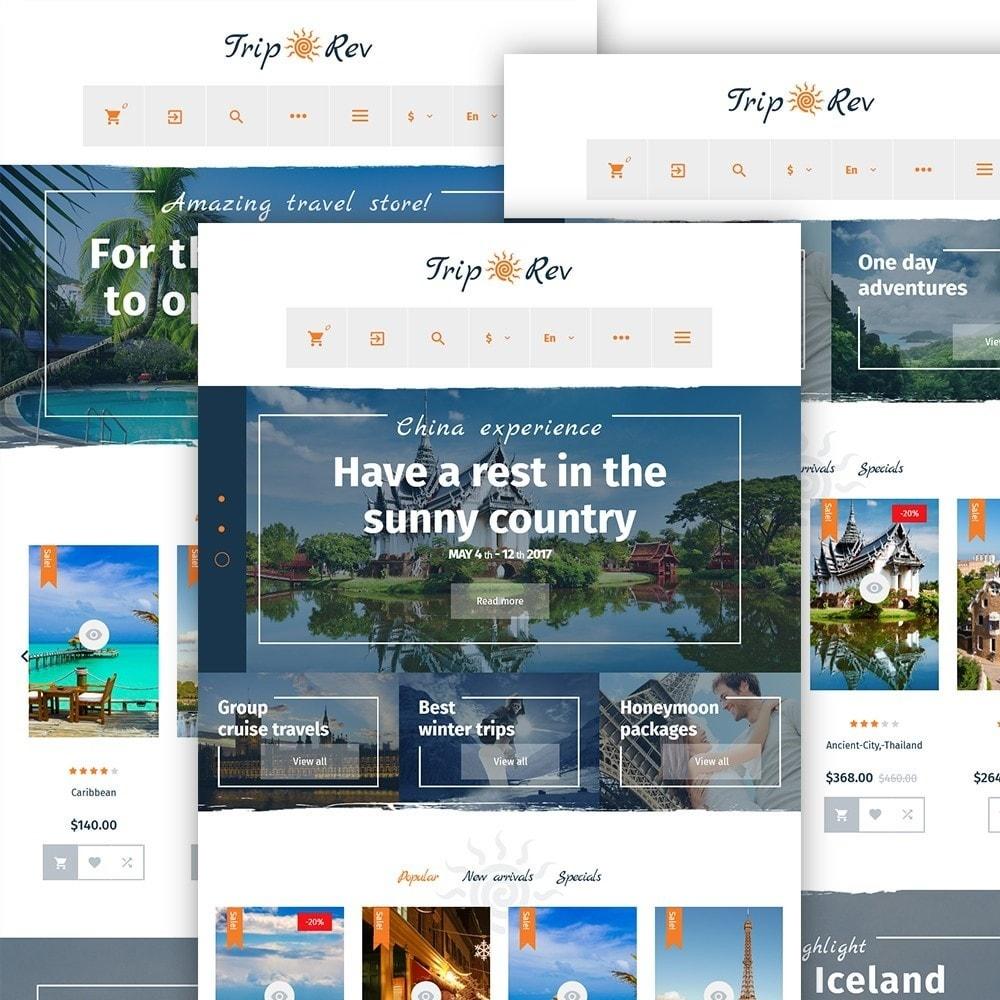 TripRev - PrestaShop шаблон на тему путешествия