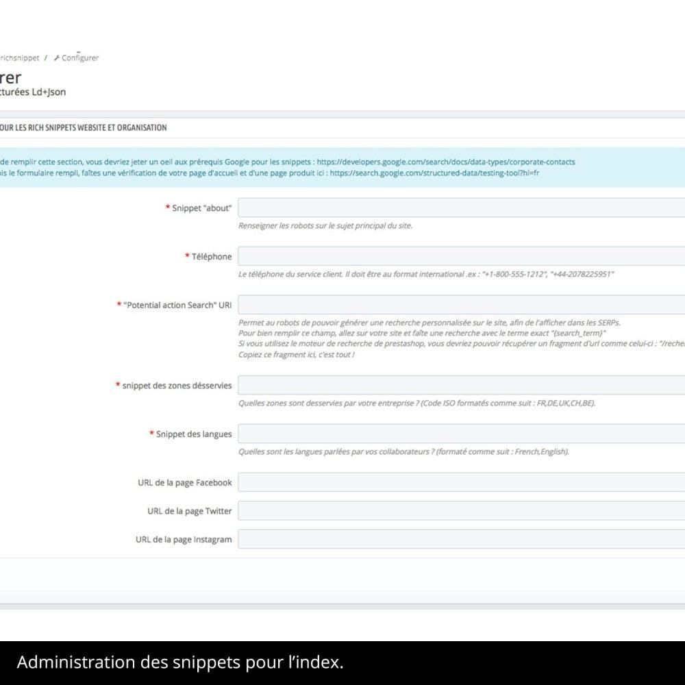 module - Information supplémentaire & Onglet produit - Rich Snippet Ld+Json sur pages produit et accueil - 4