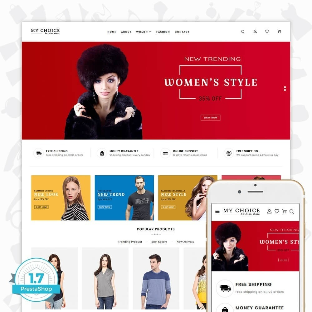 theme - Moda & Obuwie - My Choice - The Fashion Store - 1