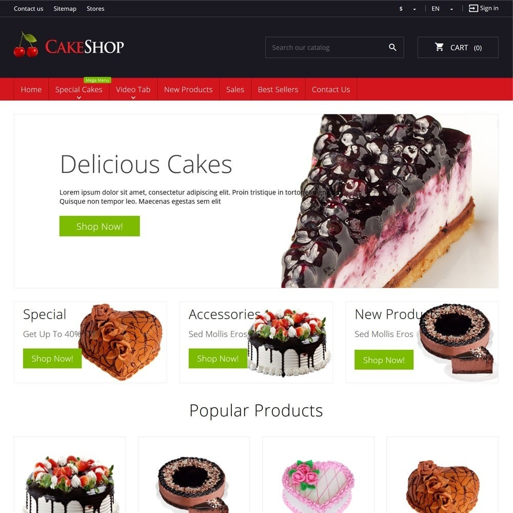theme - Cibo & Ristorazione - CakeShop - 2