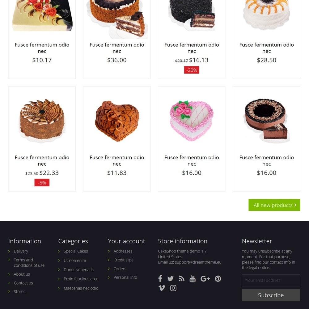 theme - Żywność & Restauracje - CakeShop - 4