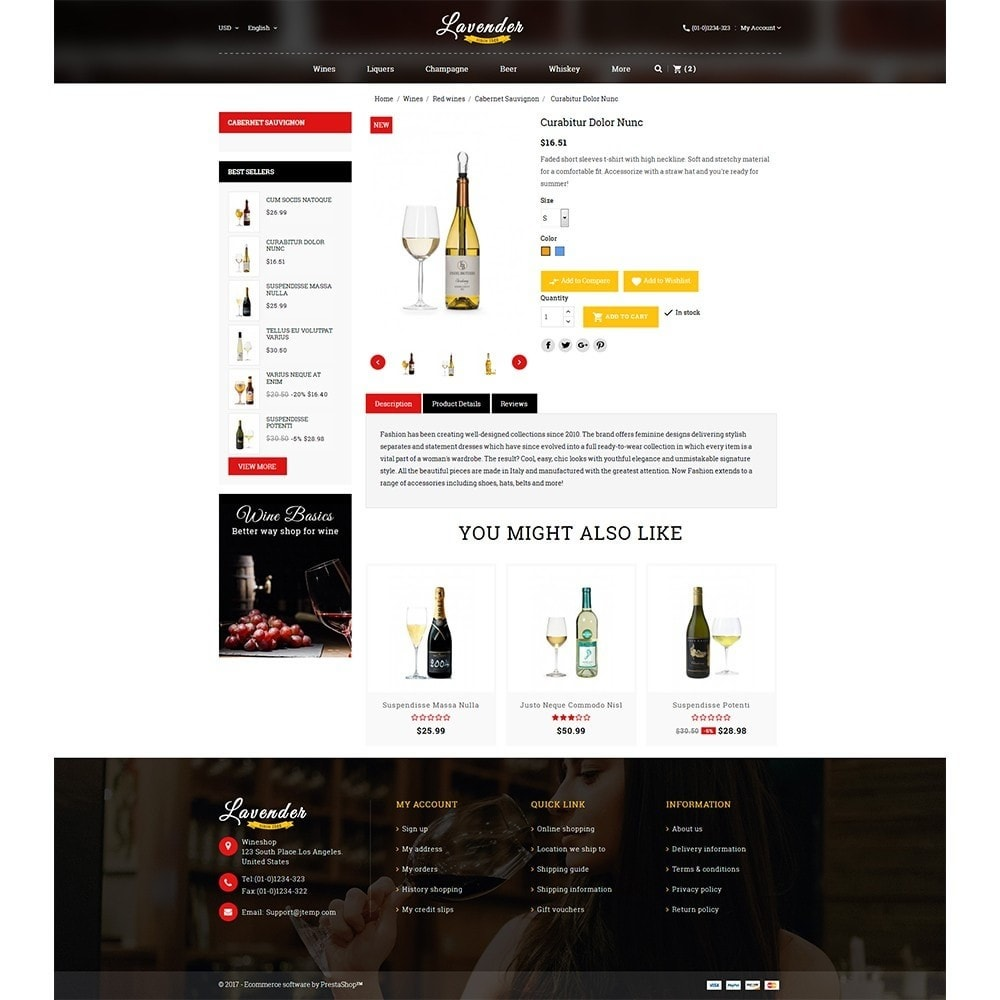 theme - Drink & Wine - Lavender Wine Store - 5