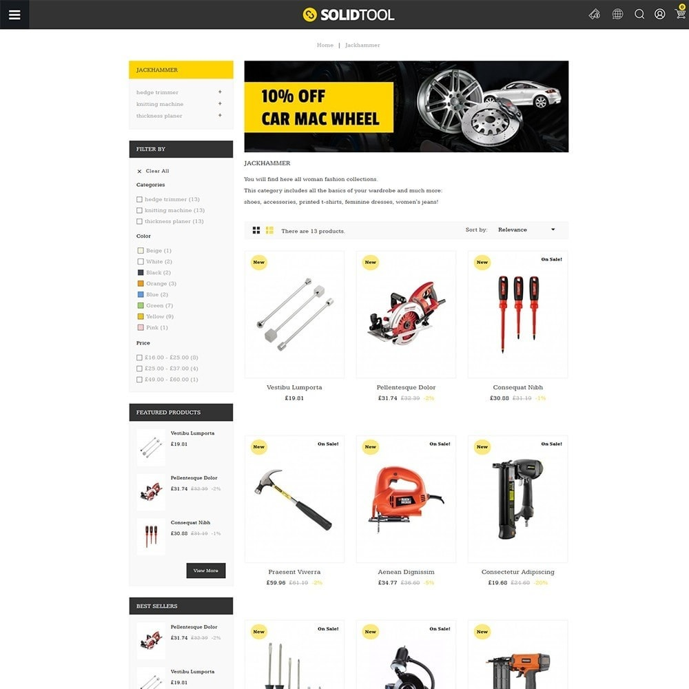 theme - Carros & Motos - Solid Tool Store - 3